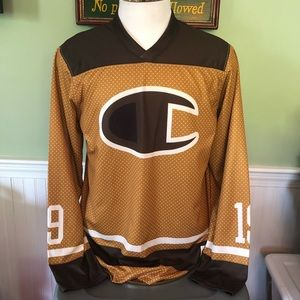 Champion Shirts - Champion LIFE Men s Hockey Jersey Brown Dot 19 86140b50b